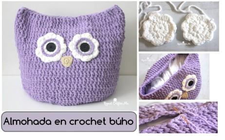 Almohada-en-crochet-búho